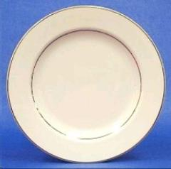 Rental store for Dinner Plate,  Ivory w Gold Trim in Sacramento CA