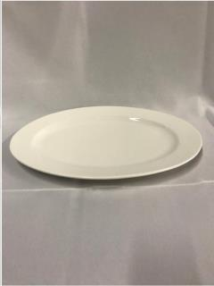 Rental store for Platter, White Ceramic Oval 18  x 13 in Sacramento CA