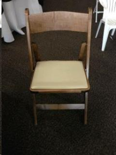 Rental store for Chair, Walnut Wood w Ivory Seat in Sacramento CA