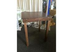 Rental store for Table, Farm 36 x36  Cocktail - Walnut in Sacramento CA