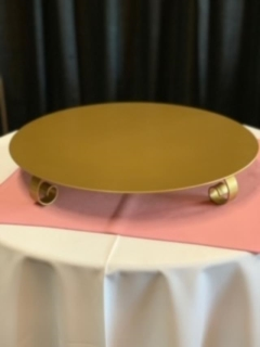 Rental store for Cake Stand Gold Round in Sacramento CA