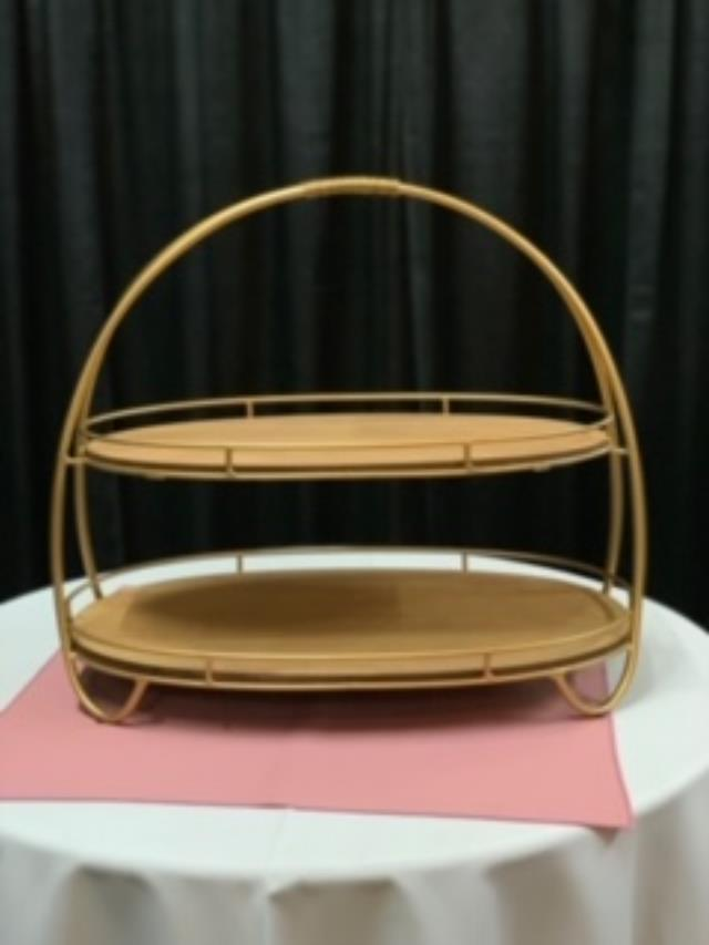 Where to find Tray, 2 Tier Oval Wood Metal Server in Sacramento