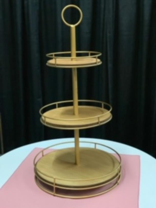 Where to find Tray, 3 Tier Wood Metal, Server in Sacramento