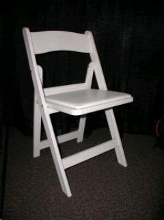 Rental store for Chair, White Deluxe Padded-Folding in Sacramento CA